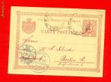 CP3-Romania Carte postala circulata 1898 de la Valcea la Berlin