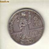 bnk mnd romania 2 lei 1911 ,  argint