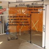 Fatada magazin din sticla securizata 10 mm