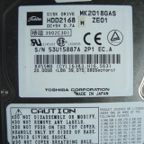 Hard Disc HDD Laptop IDE TOSHIBA 20 Gb  -  defect