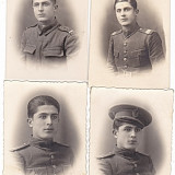 Lot 4 fotografii ofiter roman1923, 1924, 1939 - Fotografie veche