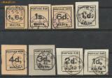 1925 Malta - 8 timbre Taxa de Plata stampilate cotate in Michel la 190 euro, Stampilat