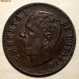 E.354 ITALIA UMBERTO I 1 CENTESIMO 1895 R XF, Europa, Cupru (arama)