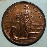E.358 ITALIA VITTORIO EMANUELE III 1 CENTESIMO 1910 R AUNC, Europa, Bronz