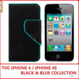 HUSA iPHONE 4S - HUSA iPHONE 4 - BLACK / BLUE - TOC DE CALITATE - HUSA iPHONE 4G - TOC iPHONE 4S - BB EDITION - MODEL NOU - Husa Telefon Apple, iPhone 4/4S
