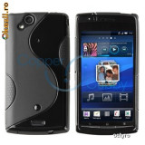 CARCASA Sony Ericsson X12 Arc - HUSA DIN TPU - HUSA Sony Ericsson X12 Arc - BLACK S LINE - Husa Telefon