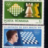 Romania L1020 A 25-a editie a Olimpiadei de Sah -Malta  1980