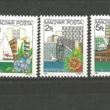 UNGARIA 1983 - ARHITECTURA, FLORI, serie nestampilata, B168