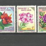 VOLTA SUPERIOARA - FLORI EXOTICE, 3 timbre nestampilate B190