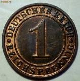 E.259 GERMANIA REICH 1 REICHSPFENNIG 1930 D XF/AUNC, Europa, Bronz