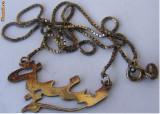 Lant vechi din argint cu medalion  - de colectie