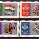Ungaria U1823 Expoz Filat.Inteat-Budapesta 1961-fond argintiu - Timbre straine