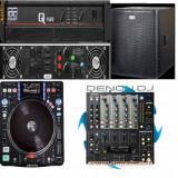 Set profesional DJ (4 x boxe, 2 x trepied, mixer, digital media turntable)