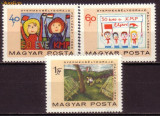 Ungaria U2496 Machete de marci postale realiz de copii 1968