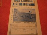 Program fotbal PETROLUL -TRACTORUL Brasov 03.05.1981
