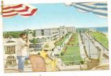 Carte postala(ilusrata)-MANGALIA-Vile pe malul marii