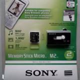 Card memorie MICRO M2-2Gb-SONY+cititor card