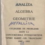 (C928) ANALIZA, ALGEBRA, GEOMETRIE DE DUMITRU SAVULESCU SI OVIDIU COJOCARU, TEHNOREDACTARE COMPUTERIZATA : C.C.D. BACAU
