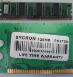 Memorie DDR RAM --- DDR-333 si DDR-266  128 Mb diversi producatori