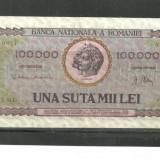 BANCNOTA 100.000 LEI - 25 ianuarie 1947 aUNC ( serie 0314) - Bancnota romaneasca