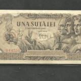 BANCNOTA 100 LEI - 5 decembrie 1947 aUNC ( serie 4350) - Bancnota romaneasca
