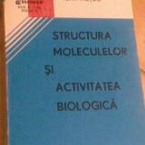 STRUCTURA MOLECULELOR SI ACTIVITATEA BIOLOGICA