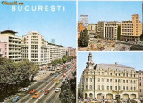 "CP 212-33 Bucuresti; Bulevardul ,,Nicolae Balcescu""; 2 Strada ,,13 Decembrie"";3 Hotel ,,Continental"" -marca fixa -necirculata -starea care se vede"