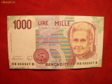 Bancnota 1000 Lire ITALIA 1990 , cal.Buna