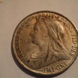 1 Coroana Marea Britanie 1898, argint - victoria dei gra britt regina fid def