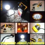LANTERNA FELINAR LAMPA FRUNTE CASA PESCUIT VANATOARE CAMPING 9 LED ACUMULATOR