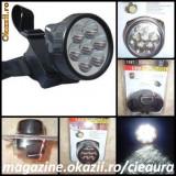 LANTERNA CAP FELINAR LAMPA FRONTALA CASA MINERIT PESCUIT VANATOARE CAMPING 7 LED