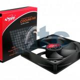 Ventilator carcasa,Cooler Sleeve bearing, 120x120x25mm, 3 pin, 1500 RPM, black, SP12025S1L3-CB