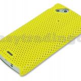 husa mesh galben protectie  + folie ecran  Sony Ericsson SE Xperia Arc s X12 airmesh