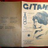 Partitura Interbelica- Gitana -Habanera -voce si pian - Carte Arta muzicala