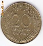 Franta 20 Centimes 1994