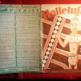 Partitura Interbelica - Hallelujah -Pian si Voce -Foxtrot - Carte Arta muzicala