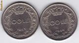 2.Regele Mihai,lot 100 lei 1943 si 1944,calitate