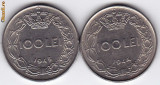 3.Regele Mihai,lot 100 lei 1943 si 1944,calitate