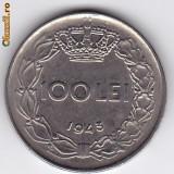4.Regele Mihai,100 lei 1943 XF/a.UNC