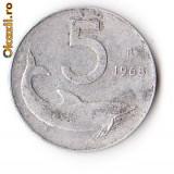 ITALIA 5 LIRE 1968