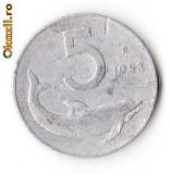 ITALIA 5 LIRE 1953