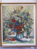 Cumpara ieftin Vaza MACI si Flori semnat BARTHA, tablou in ulei pe panza foarte frumos