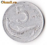 ITALIA 5 LIRE 1954