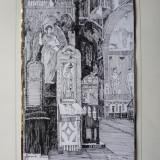 Ion Hacik, Manastirea Sinaia, Icoana Sfantului Nicolae, 1992, pictor roman consacrat de origine armeana