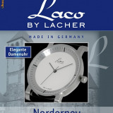 Ceas Dama Lux Swiss Parts-LACO by LACHER Norderney White -268e-ORIGINAL-Editie Limitata-SIGILAT-Made in Germany