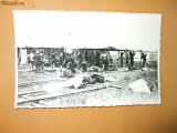 Carte postala cercetasi uniforma constructie corturi