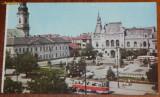 Carte postala RPR ONT JUDETUL BIHOR - ORADEA - CENTRUL VECHI AL ORASULUI,, tramvai,  NECIRCULATA