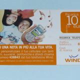 CARTELA DE REINCARCARE ITALIA 1 - Cartela telefonica straina