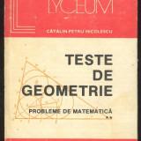 Calin Petru Nicolescu*TESTE DE GEOMETRIE PROBLEMELE DE MATEMATICA vol. II - Carte Matematica