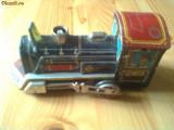 locomotiva tren din tabla jucarie veche epoca comunista china chinezeasca hobby